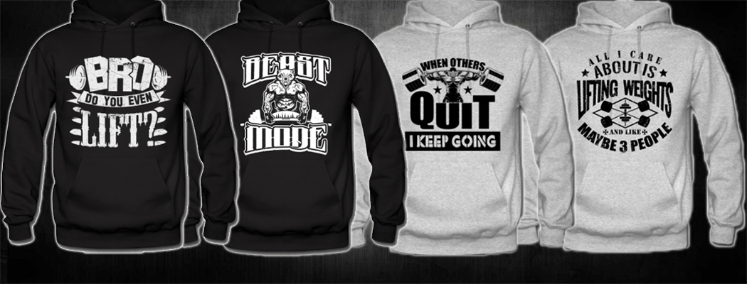 Best Motivational Quotes - Mens Workout Hoodies